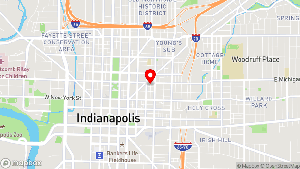 Google Map of 401 E Michigan Street, Indianapolis, IN 46204