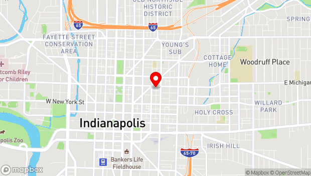 Google Map of 401 East Michigan Street, Indianapolis, IN 46204
