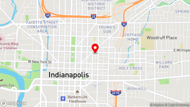 Google Map of 401 E Michigan St, Indianapolis, IN 46204