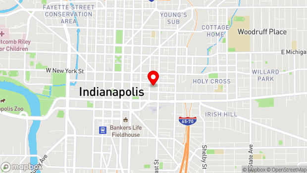 Google Map of 416 E Wabash St, Indianapolis, IN 46204