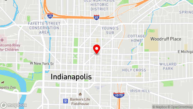 Google Map of 401 E. Michigan Street, Indianapolis, IN 46204