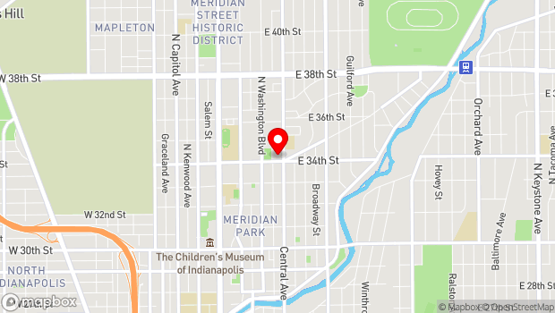Google Map of 418 E 34th St, Indianapolis, IN 46205