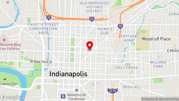 Google Map of 502 N. New Jersey Street, Indianapolis, IN 46204