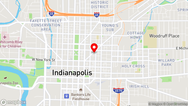 Google Map of 435 Massachusetts Ave, Indianapolis, IN 46204
