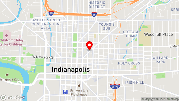 Google Map of 430 Mass Ave, Indianapolis, In 46204