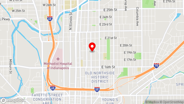 Google Map of 1847 N. Alabama Street, Indianapolis, IN 46202