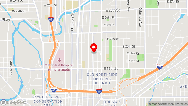 Google Map of 1849 N. Alabama St., Indianapolis, IN 46202