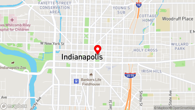 Google Map of 222 E. Market St., Indianapolis, IN 46204