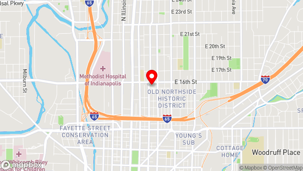 Google Map of 1505 North Delaware Street, Indianapolis, IN 46202