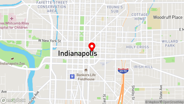 Google Map of 222 E. Market Street, Indianapolis, IN 46220
