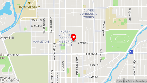 Google Map of 4011 N. Pennsylvania Street, Indianapolis, IN 46205