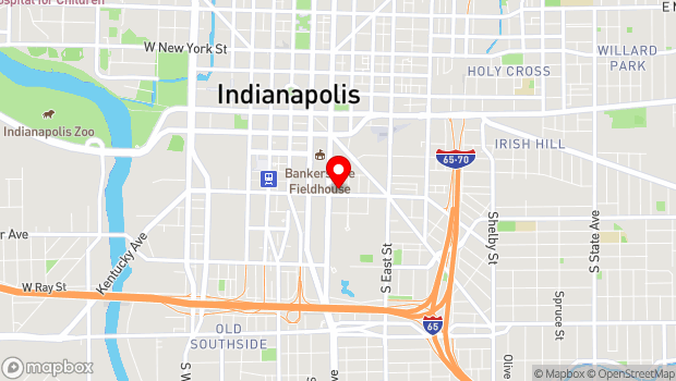 Google Map of 216 E South Street, Indianapolis, IN 46204
