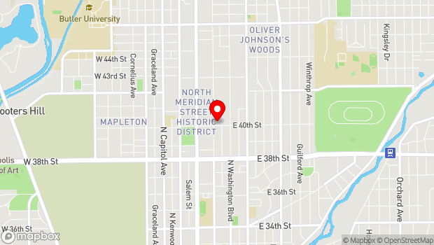 Google Map of 4011 N. Pennsylvania St., Indianapolis, IN 46205