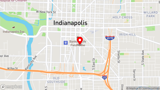 Google Map of 333 South Delaware St., Indianapolis, IN 46204