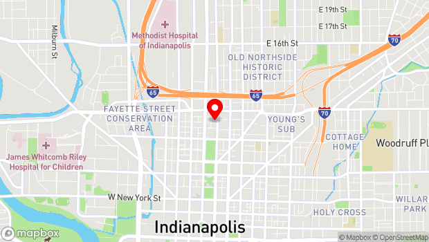 Google Map of 924 N Pennsylvania St, Indianapolis, IN 46204