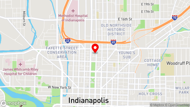 Google Map of 924 N. Pennsylvania St., Indianapolis, IN 46204