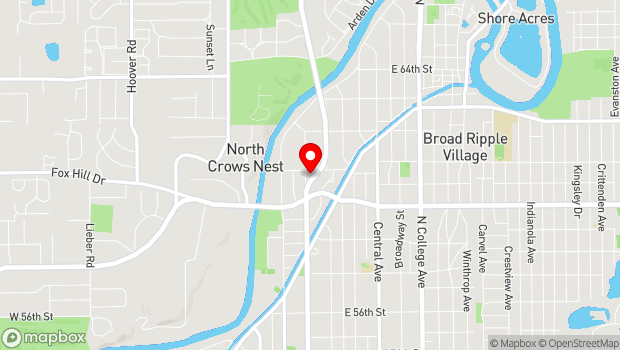 Google Map of 6050 North Meridian Street, Indianapolis, IN 46208