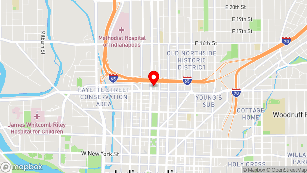 Google Map of Indiana Landmark Center, Indianapolis, IN 46204