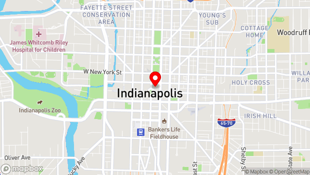 Google Map of 121 Monument Circle, Indianapolis, IN 46202