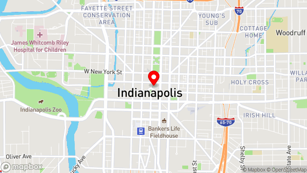 Google Map of 125 Monument Circle, Indianapolis, IN 46204