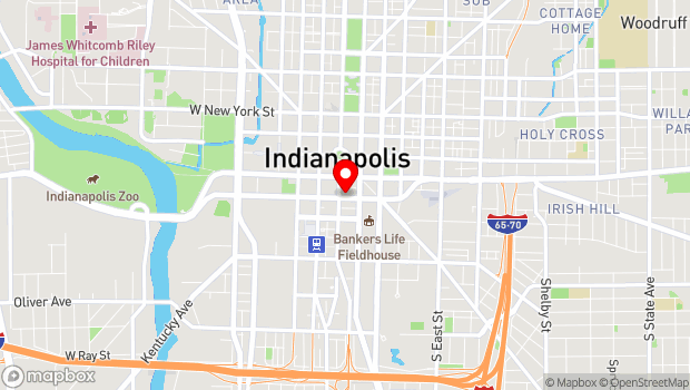 Google Map of 47 S Meridian St, Indianapolis, IN 46204