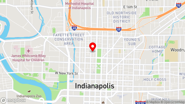 Google Map of 705 N. Illinois Street, Indianapolis, IN 46204