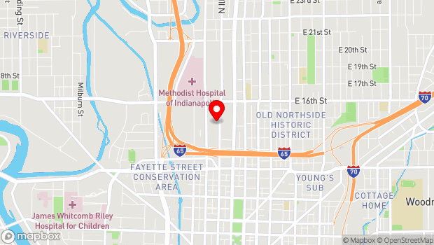 Google Map of 1410 Indiana Ave, Indianapolis, IN 46202