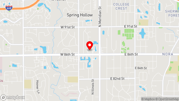 Google Map of 100 W. 86th Street, Indianapolis, IN 46260