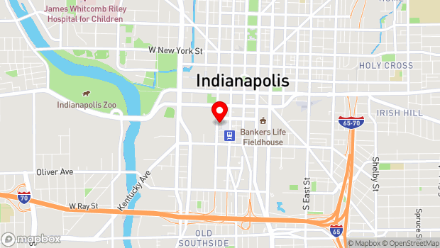 Google Map of 201 S Capital Avenue, Indianapolis, IN 46225