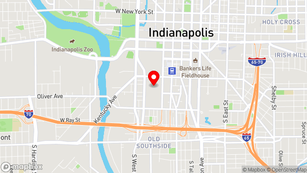 Google Map of 500 S. Capitol Avenue , Indianapolis, IN 46225