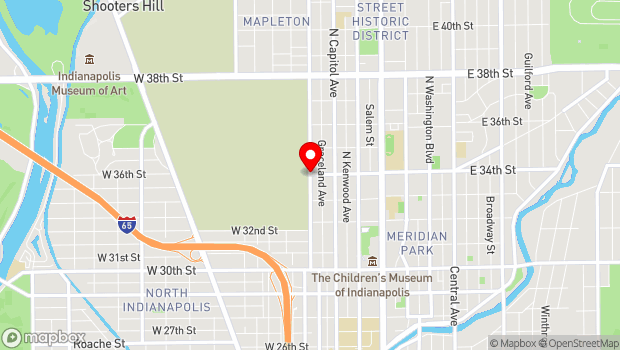 Google Map of 3400 Boulevard Place, Indianapolis, IN 46208