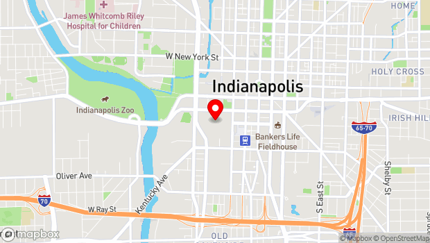 Google Map of 100 South Capitol Ave., Indianapolis, IN 46225