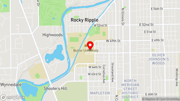 Google Map of 4600 Sunset Avenue, Indianapolis, IN 46208