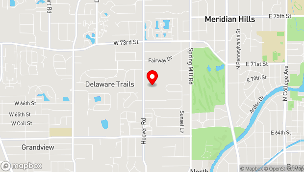 Google Map of 6701 Hoover Rd., Indianapolis, IN 46260