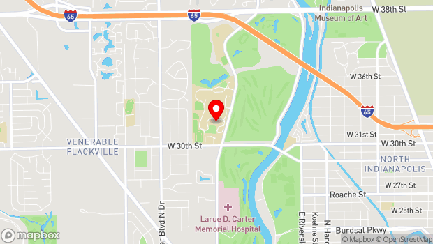 Google Map of 3200 Cold Spring Rd., Indianapolis, IN 46222