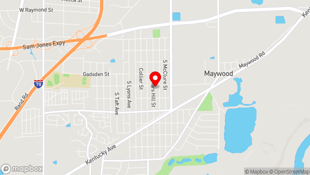 Google Map of 2811 Mars Hill Street, Indianapolis, IN 46241