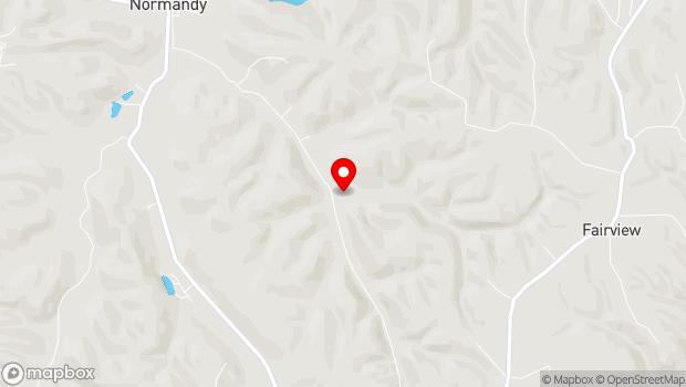 Google Map of 1950 Cascade Hollow Road, Tullahoma, TN 37388