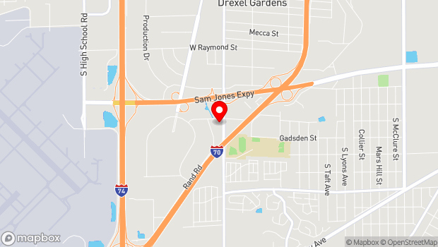 Google Map of 2610 S Lynhurst Dr, Indianapolis, IN 46241