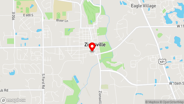 Google Map of 225 West Hawthorne Street, Zionsville, IN 46077