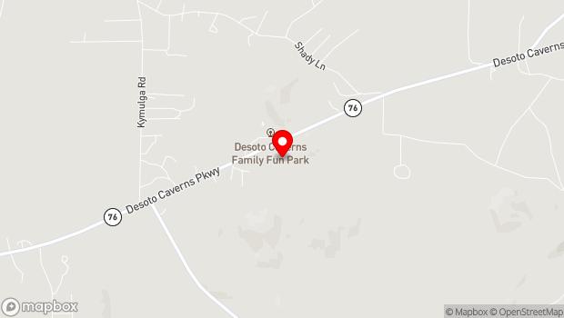 Google Map of 5181 DeSoto Caverns Pkwy, Childersburg, Alabama 35044