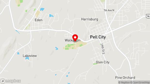 Google Map of 25 Williamson Drive, Pell City, AL 35125