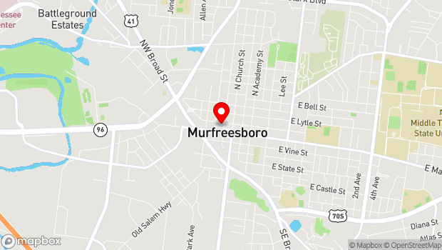 Google Map of various venues, Murfreesboro, TN 37130