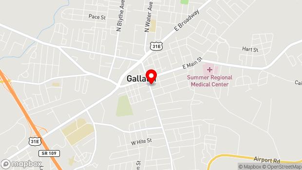 Google Map of 201 S. Water Avenue, Gallatin, TN 37066