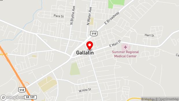 Google Map of Public Square, Gallatin, TN 37066