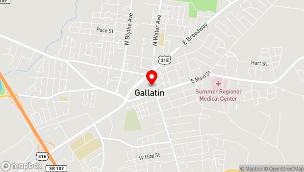 Google Map of 146 North Water Avenue, Gallatin, TN 37066