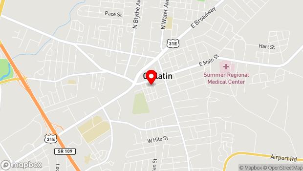 Google Map of 183 West Main Street, Gallatin, TN 37066
