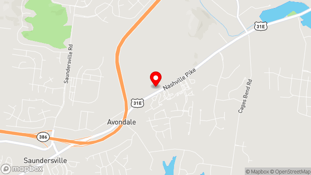 Google Map of 2310 Nashville Pike, Gallatin, TN 37066