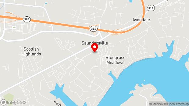 Google Map of 30 Music Village Blvd, Hendersonville, TN 37075
