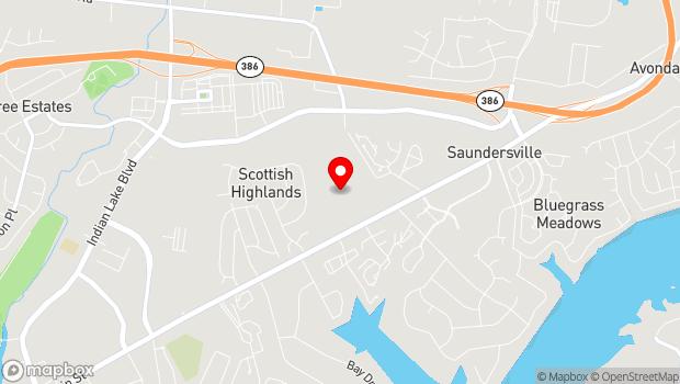 Google Map of 550 Johnny Cash Parkway, Hendersonville, TN 37075