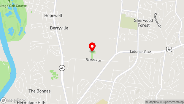 Google Map of 4580 Rachel's Lane, Hermitage, TN 37076